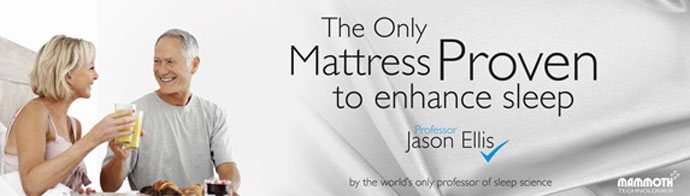 The only mattress proven to enhance sleep by JHason Ellis, the world's only professor of sleep science