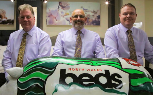North Wales Beds staff at their store in Wrexham