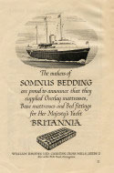 Somnus Bedding ship advert