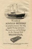 Somnus Bedding ship advert